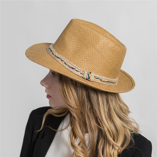 e4e0c6ff1ab78 XIANXIANQING Western Cowboy Hat For Men Women Summer Straw Hats Alloy  Feather Beads Cowgirl Jazz Cap Wide Brim Sun Caps H1035