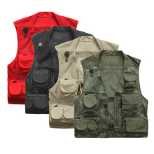 2017 Men's Fishing Vest Multifunctional Quick-Drying Mesh Vest Jacket Loose Multi-Pocket  Polyester Photography Angler Waistcoat