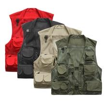 2017 Многофункциональный жилет для Рыбалки для мужчин, Быстровысыхающая сетка жилета, куртка свободного стиля с несколькими кармани, фотографы рыболовы
