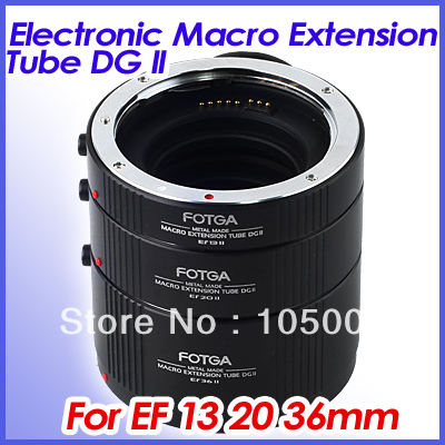 fotga Metal Electronic AF Macro Extension Tube Set 13+20+36 mm for Canon eos EF EF-S mcoplus mk c up extension tube auto macro af reverse meike adapter for canon ef ef s camera