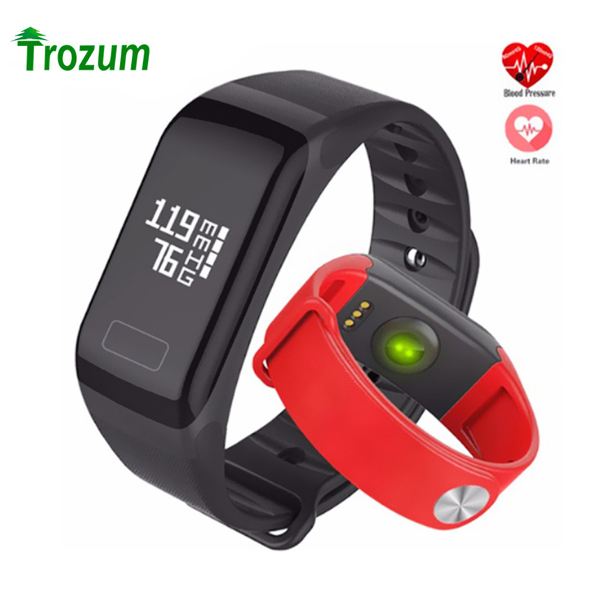 F1 Smart Bracelet Heart Rate Blood Pressure Monitor Call Reminder Fitness Waterproof Activity Tracker band for iPhone watch