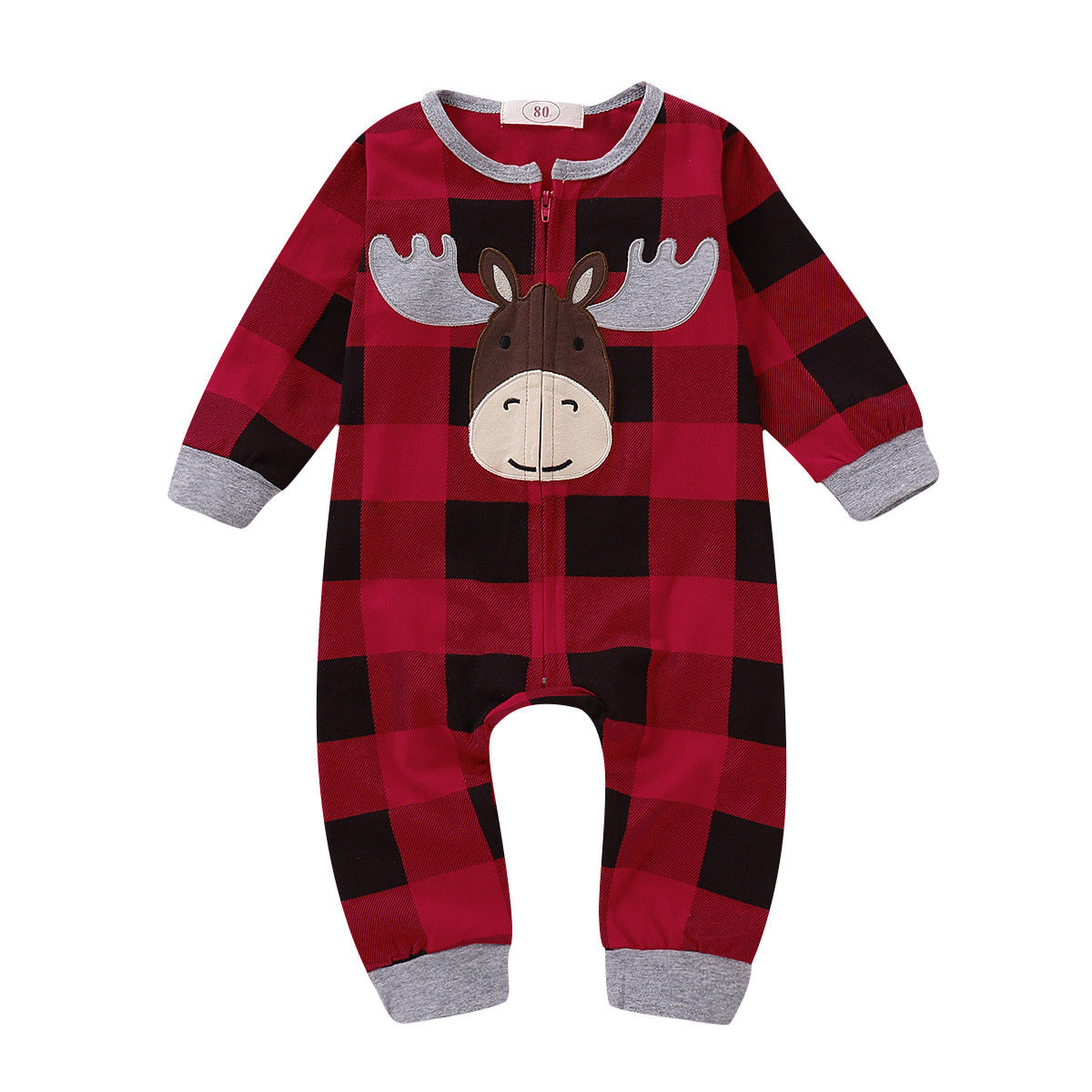Newborn Baby Kids Girls boys Romper Jumpsuits bodysuit top Clothes deer INS
