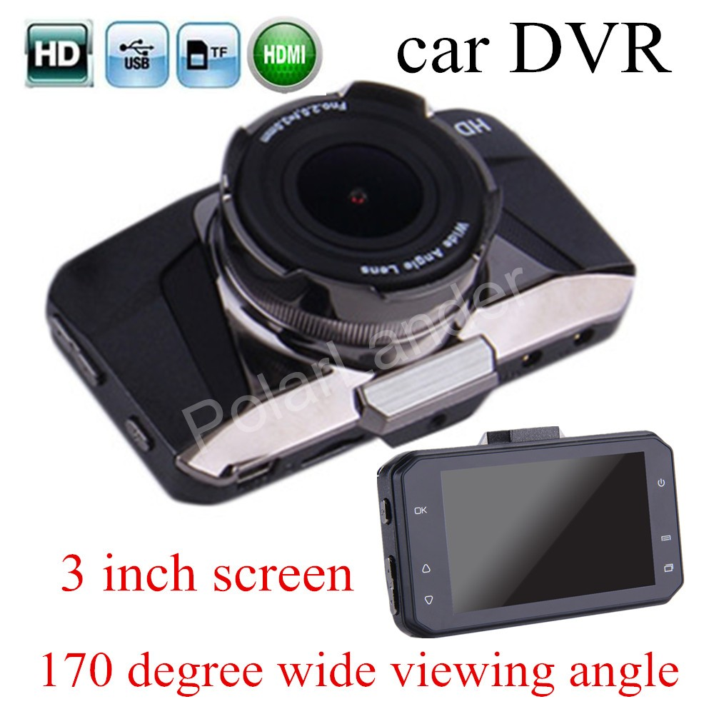 high quality new 3 inch LCD screen HD Car Camcorder Black Box DVR 170 Degree wide Viewing Angle Night Vision Dash Cam