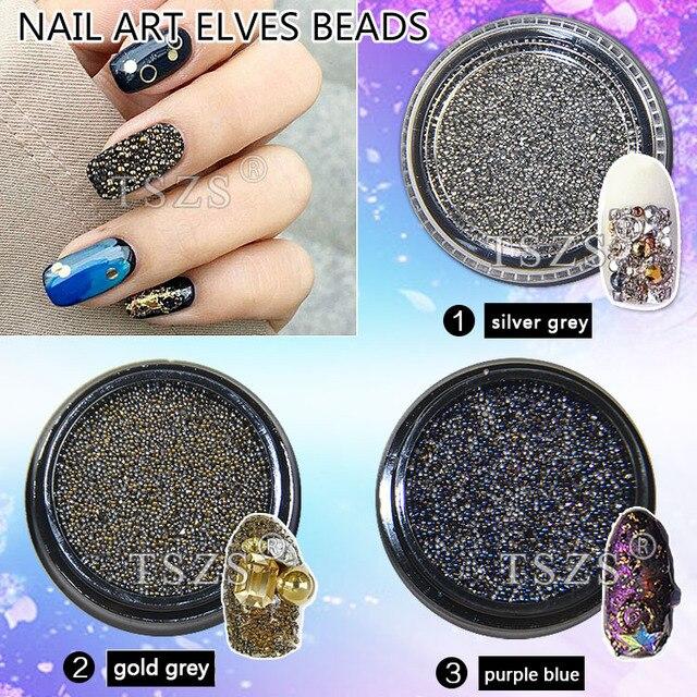 1pot /lot nail art beads microbeads scatter beads Mini rhinestone ...