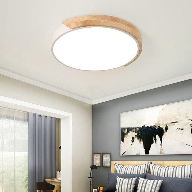 2019 Led Moderne für esszimmer Holz + Metall suspension Decke Lampe Hause  Beleuchtung Küche
