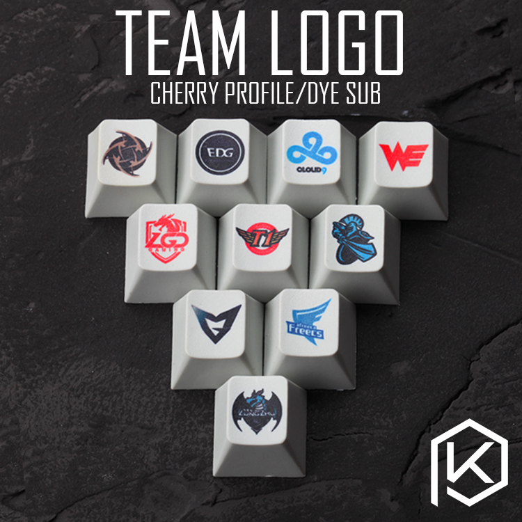 Novelty Cherry Profile Pbt Keycap For Mechanical Keyboards Dye Sub Legends Team Logo We Newbee C9 Skt Lz Nip Edg Lgd Tsm Omg