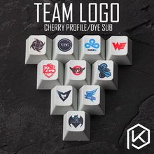 Novelty cherry profile pbt keycap for mechanical keyboards Dye Sub legends team logo we newbee c9 skt lz nip edg lgd tsm omg(China)