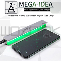 Qianli MEGA IDEA tela lcd reparação poeira lâmpada de impressão digital scratch screen changer dust display lâmpada para o telefone móvel verde led|Conjuntos ferramenta manual| |  -