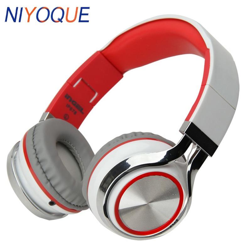 NIYOQUE Stereo Headphone 3.5mm Studio Headphones DJ Earphones Middle Headset High Quality Headphones For Iphone Ipad Mp3 Player
