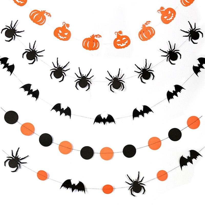 Happy Halloween Ghost Pumpkin Holiday Party Decoration Plastic Banner Door Sign