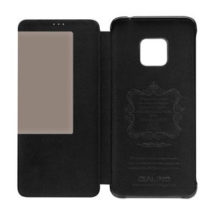 Image 2 - QIALINO Fashion Genuine Leather Flip Cover for Huawei Matte 20 RS Luxury Handmade Case with Smart Window for Huawei Mate 20 Pro