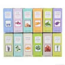 10 мл, 12 ароматов, чистое ароматическое масло, эфирное масло для диффузора, ароматерапия, масло мяты, пачули, чайного дерева, лаванды, масло для сна TSLM1