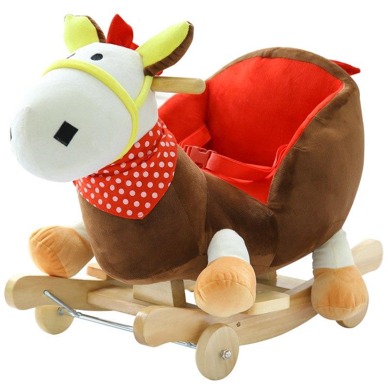 Aliexpress Com Buy Baby Swing Plush Horse Toy Rocking