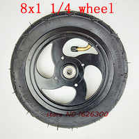 """Size 8x1 1/4 tyre 32mm Width Inflated Tube With Aluminium Alloy Hub fits Kickscooter Scooter Wheel Size Wheel 8"""" Pneumatic Wheel"""