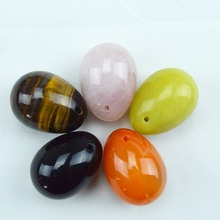 5 Pcs black obsidian pink quartz tiger eye lemon stone agate eggs