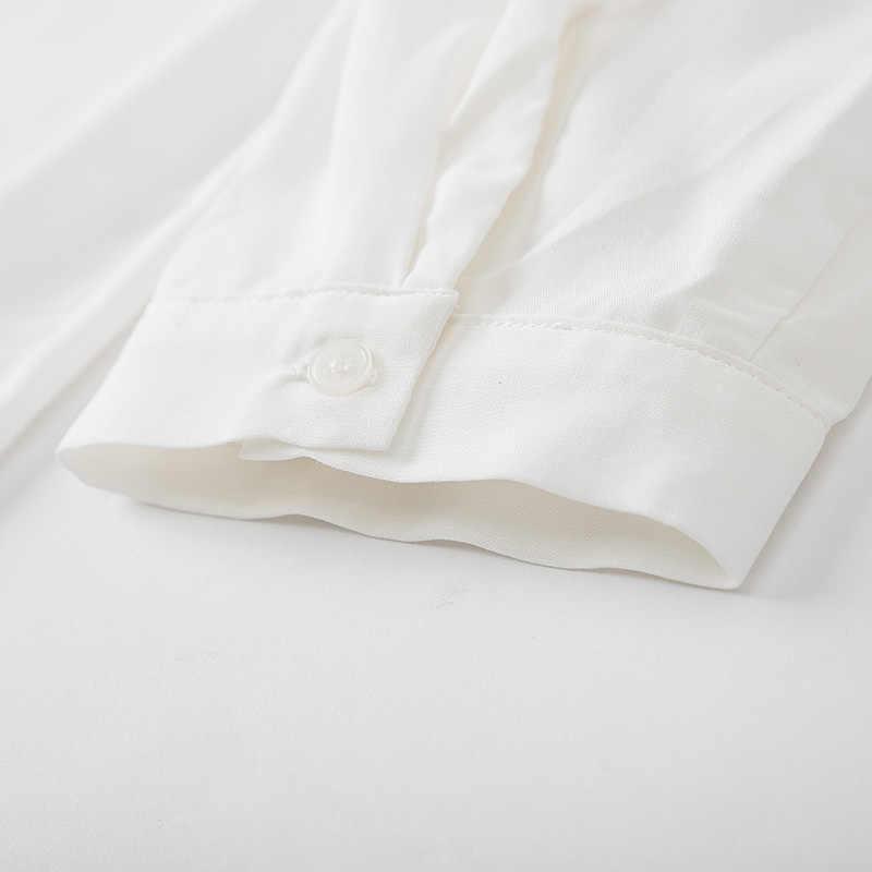 ¡Novedad de otoño 2019! Camisa de manga larga SEMIR para mujer, jersey con cuello con abertura y cuello de pico, blusa, top de arte perezoso, camisa pequeña de moda para mujer