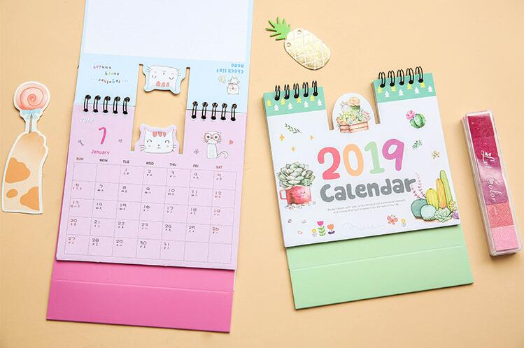 1 Piece 24.8cm Big Size 2019 Flamingo Calendar Office Stationery Desk Notebook Holiday Promotion Gift Girls Birthday Gift Office & School Supplies Calendar
