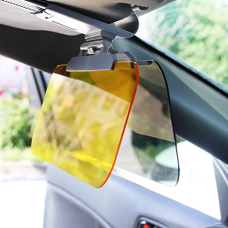 New Car Sun Visor HD Car Anti-sun Dazzling Goggle Day Night Vision Driving Mirror UV Fold Flip Down HD Clear View Visor