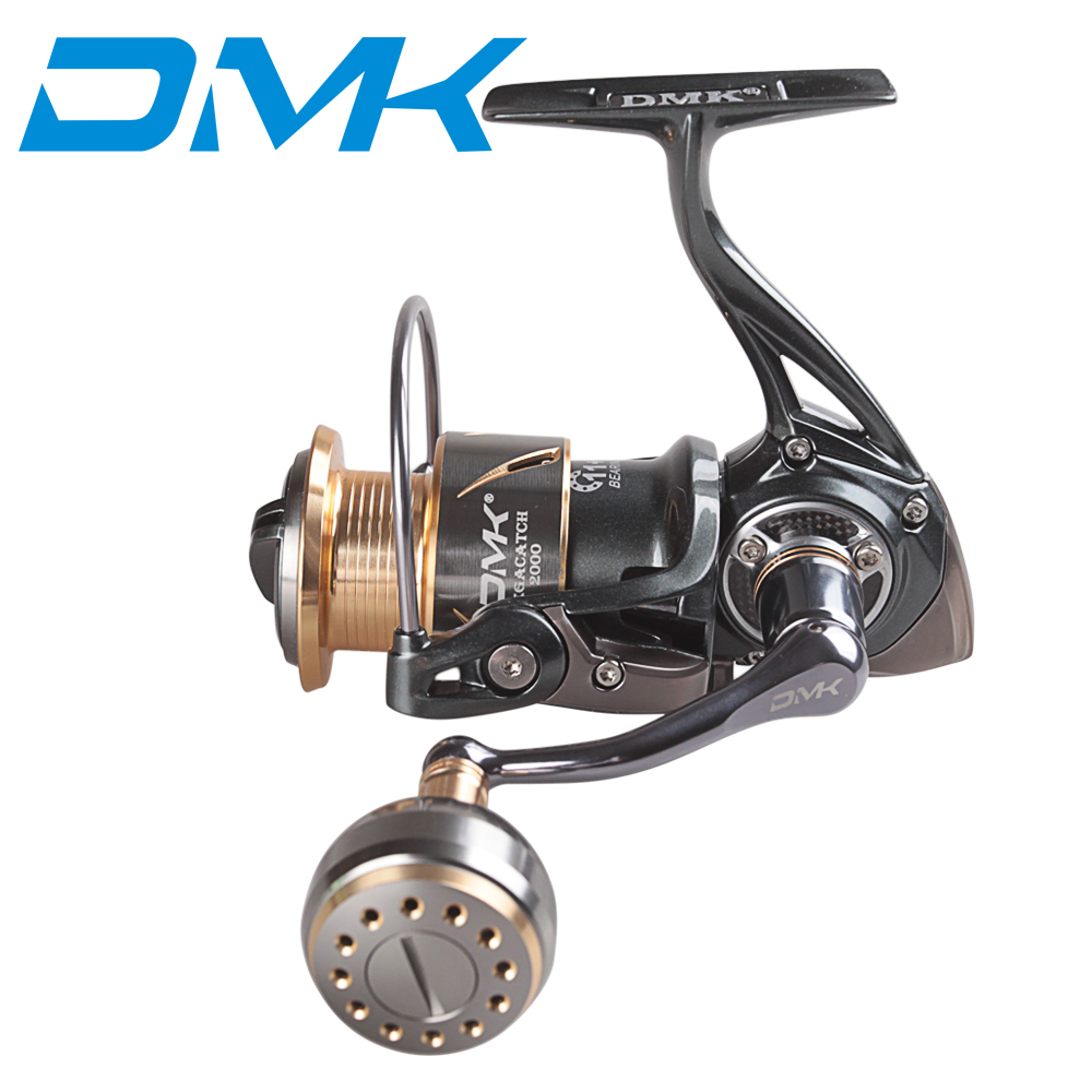 DMK 1000-5000 Pesca Spinning Reel 12BB 5.2: 1 Carretilha De Pesca Roda de Fiar isca Carretel De Pesca Pesca Da Carpa Enfrentar Moulinet