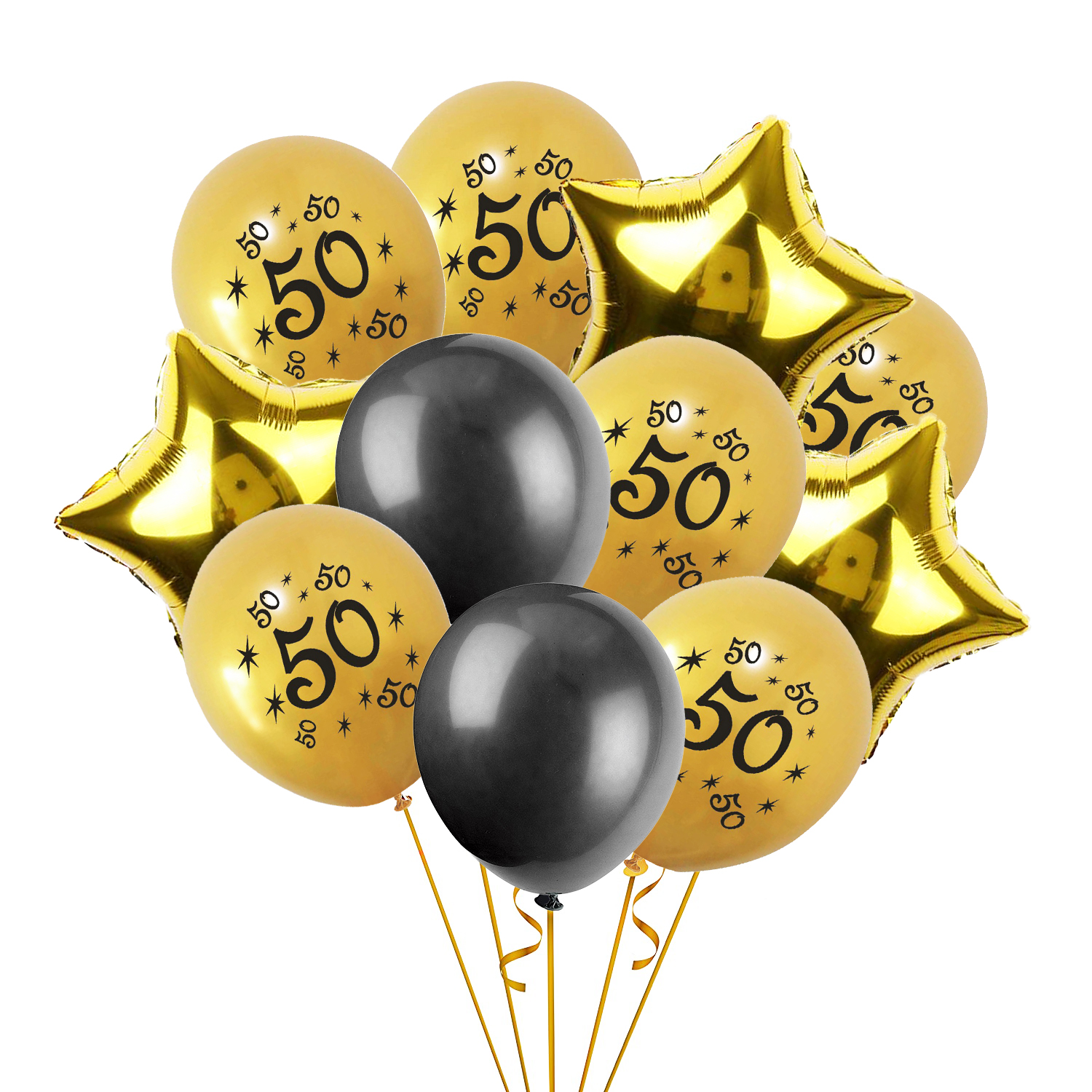Cheers Adults 50th Birthday Party Supplies Set Gold Foil Globos 20pcs Latex Balloons Happy 50 Years Old Decoration 75D In Ballons Accessories