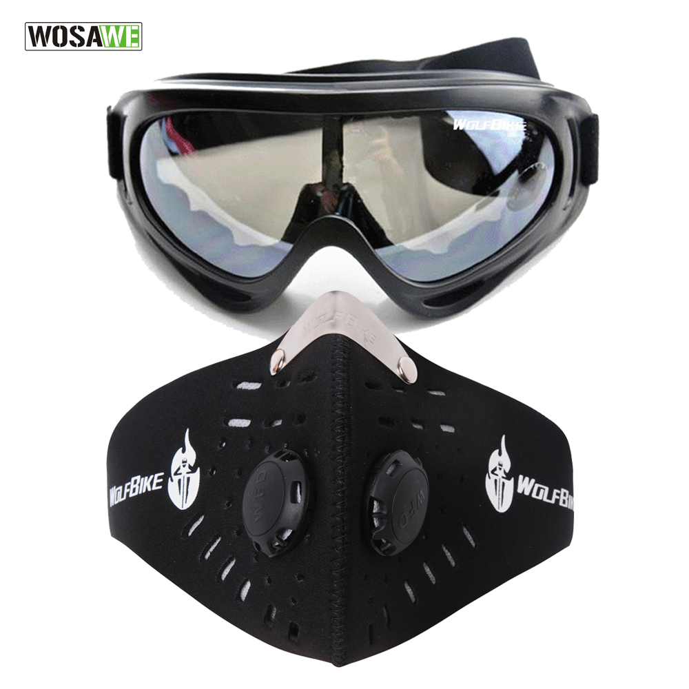 WOSAWE Men Ski Snowboard Mask Winter Ski Snowmobile Goggles Windproof Skiing Glasses Motocross Sunglasses With Mouth Filter