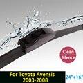 """Lâminas de limpador para toyota avensis (2003-2008) 24 """"+ 16"""" fit padrão j gancho limpador braços só hy-002"""