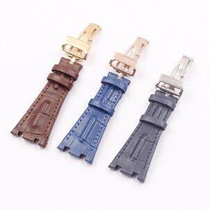 Image 3 - Horloge Accessoires Geldt Voor Voor Ap Royal Oak Serie Lederen Horloge Band Vouwen Gesp 28 Mm Herenhorloge Riem