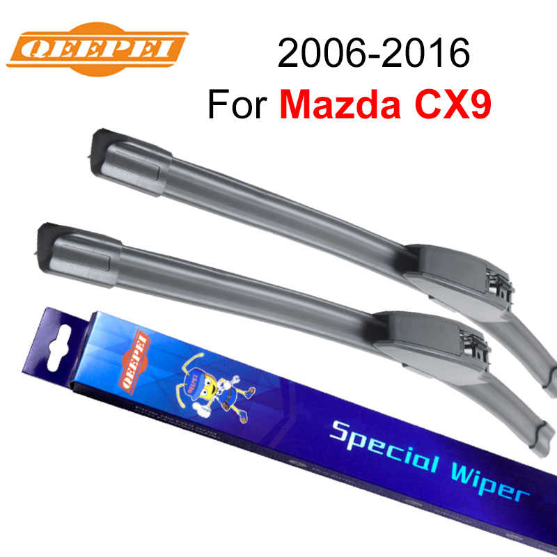 "QEEPEI Windscreen Wiper Blades For Mazda CX9 2006-2016 26""+16"" High Quality Natural Rubber Clean Front Windshield F03"