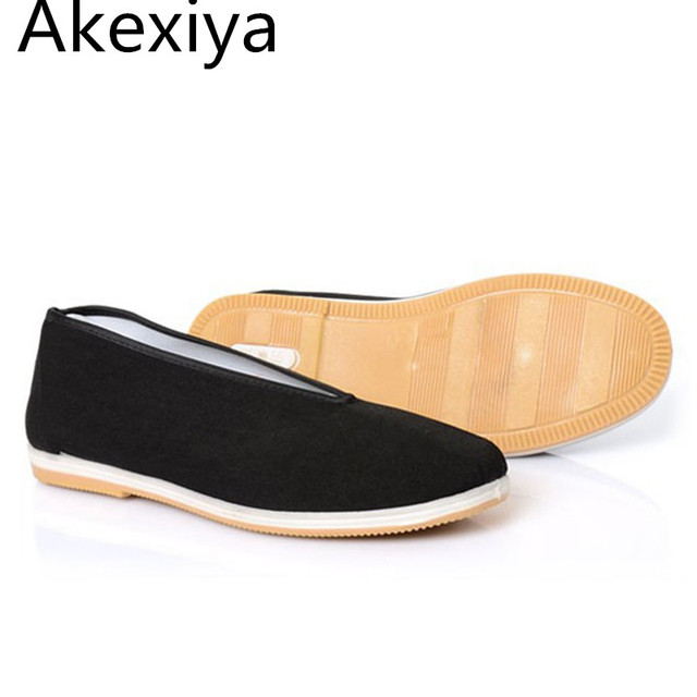Akexiya Chinese Kung Fu Shoes Good Quality Loafers Shoes Flats Breathable Canvas Solid Shoes Casual Type Spring Summer Autumn