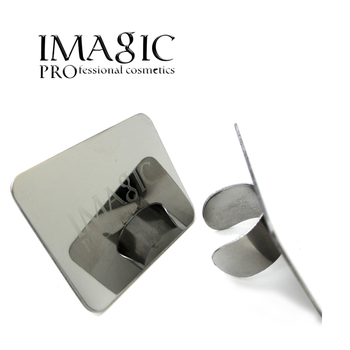 Imagic Nail Art Palette Cosmetic Makeup Mixing Palette Ring Set Stainless Steel for Blending Paint Foundation Shades Concealers Бутылка