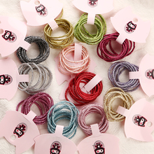 12 Colors 50pcs/lot 3cm Child Rubber Bands Hair Accessories Wholesale New Fashion Candy Elastics For Girls Kids
