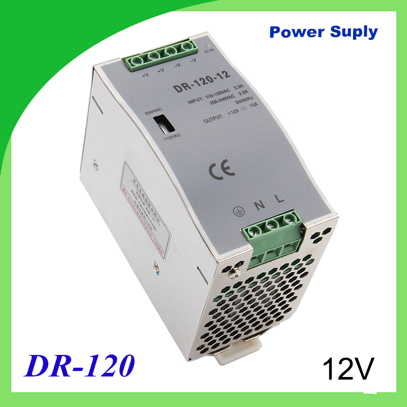DR-120-12 Din rail power supply 120w 12V power suply 12V/15V/24V/48V 120w ac dc converter dr-120 good quality dianqi din rail power supply 240w 12v 24v 48v power suply 12v 240w ac dc converter dr 240 12 dr 240 24 dr 240 48 good quality