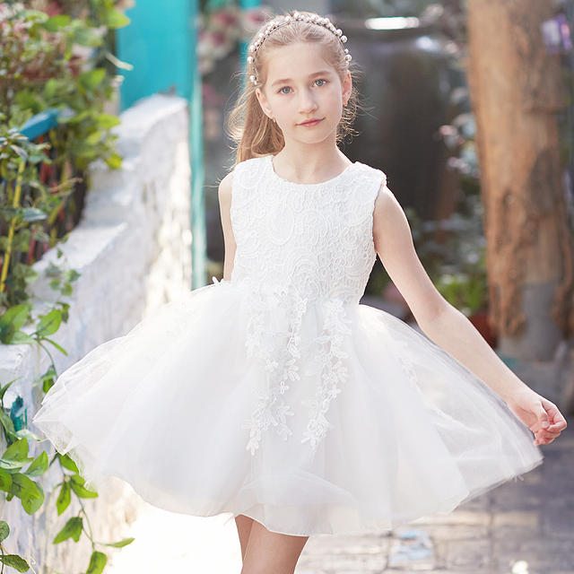 Princess Girl Dress Robe Enfant Costume Wedding Pageant Prom Gown ...