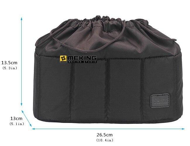 Selens flexibele camera insert partitie gewatteerde tas case voor