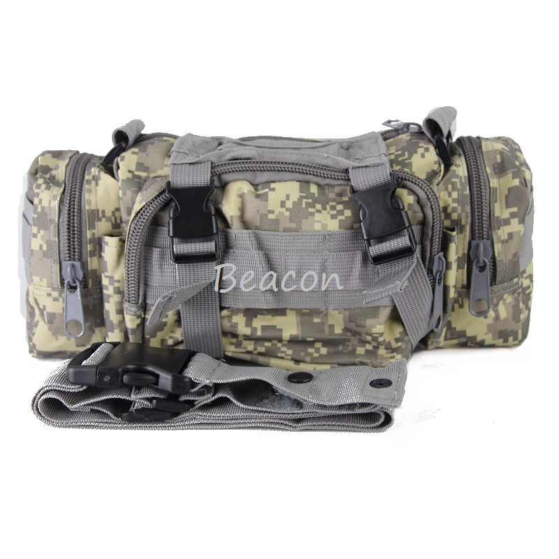 Military Tactical Camping Hiking Trekking Outdoor Molle Belt Pouch Bag ACU