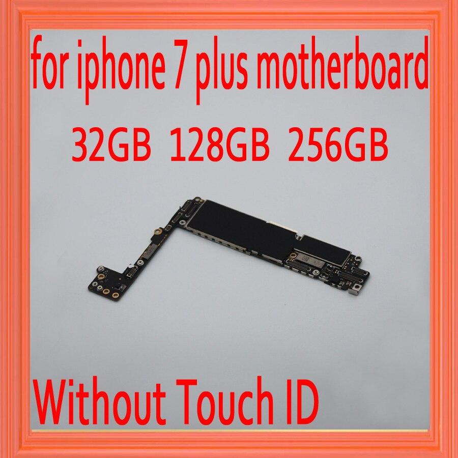 100% Original entsperrt für iphone 7 plus Motherboard ohne Touch ID, für iphone 7 P Mainboard mit Chips, 32 gb/128 gb/256 gb