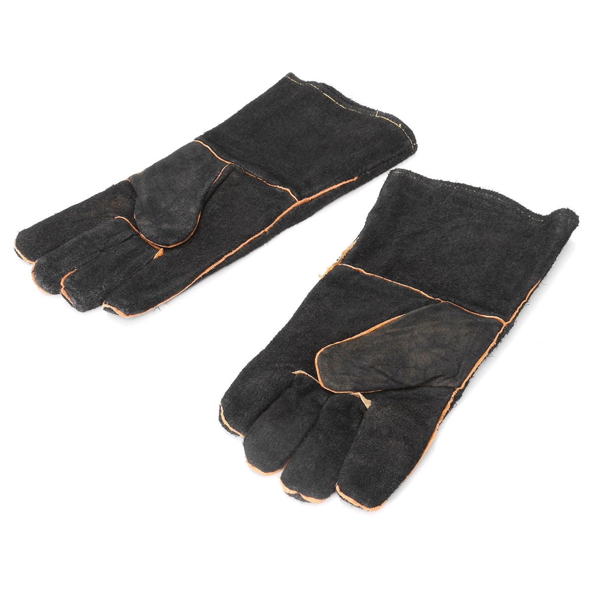 NEW Safurance 32cm XL Heavy Duty Welding Gloves Stoves PU Leather Cowhide Protect Welder Hands Workplace Safety Glove drop shopping leather canvas abrasion safety working welder gloves mechanical working leather welding gloves
