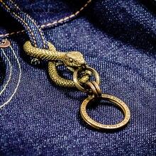 Porte Clef Sleutelhanger Mannen Sieraden Chaveiro Vintage Snake Llaveros Sleutelhanger Llaveros Charm Verjaardagscadeau Sleutelhanger Accessoires