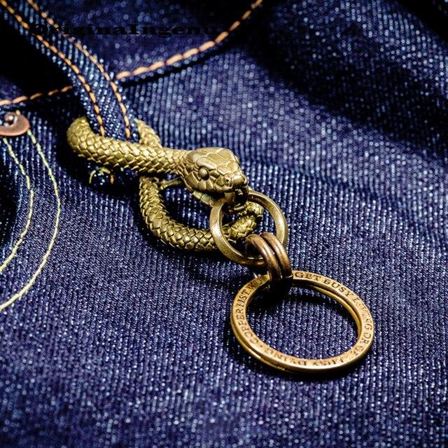Мужской винтажный брелок Porte Clef, винтажный брелок в виде змеи, аксессуар для ключей на день рождения