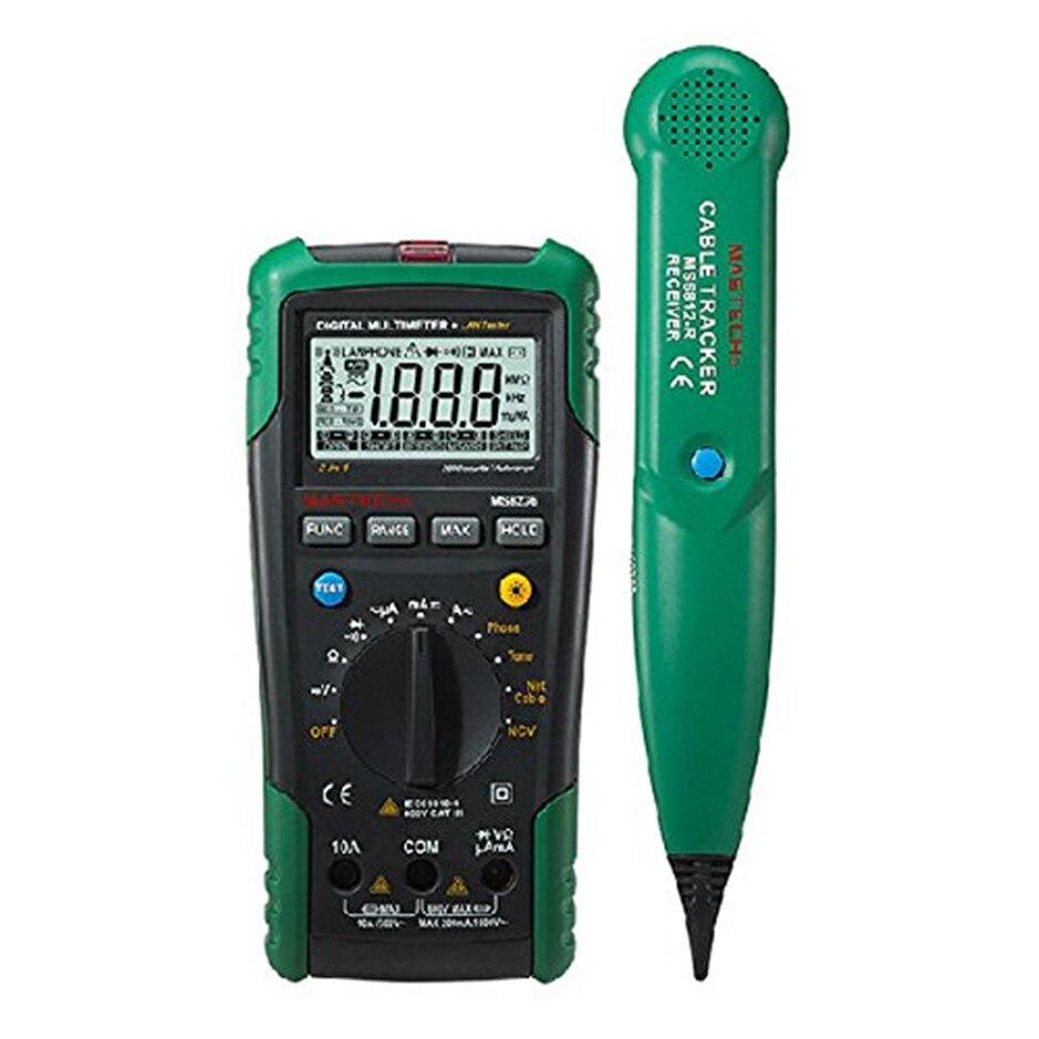 MASTECH MS8236 multimètre numérique Netwoek testeur de câble Net traqueur de câble tonalité contrôle de ligne téléphonique détection de tension sans contact