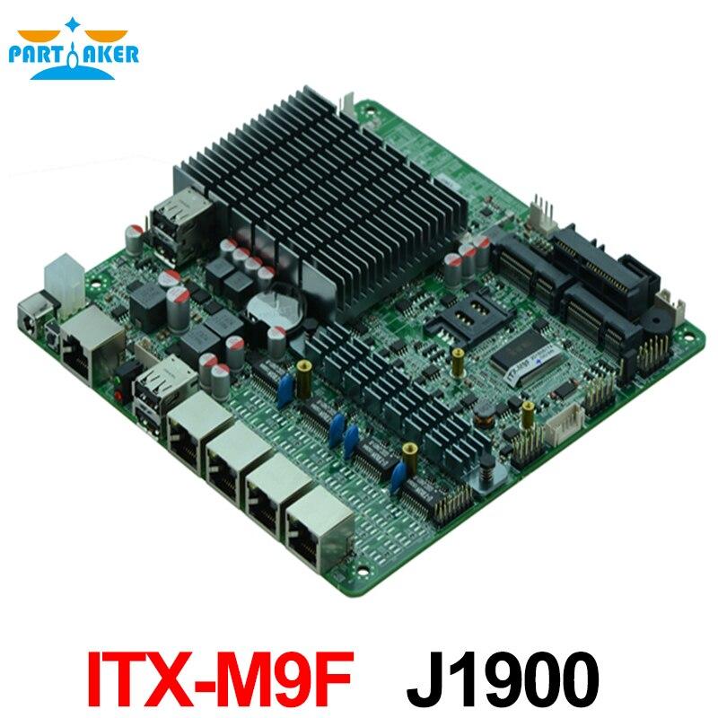4*82583 V Quad Core J1900 processeur industriel pare-feu carte mère avec support WIFI 3G USB COM