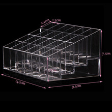 HOT SALE Clear Acrylic 24 Lipstick Holder Display Stand Cosmetic Storage Rack Organizer Makeup Make up Case Box