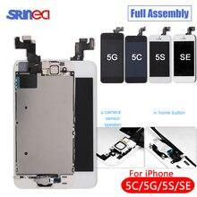أسود/أبيض كامل الجمعية شاشة الكريستال السائل محول الأرقام آيفون 5s C Se AAA LCD شاشة استبدال تعمل باللمس أنا الهاتف 5s 5C لا الميت بكسل