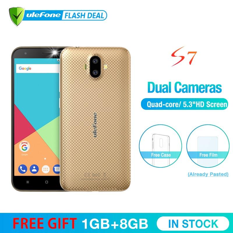 Ulefone S7 1 gb + 8 gb Smartphone 5.0 inch IPS Hd-scherm Android 7.0 Dual Camera 3g mobiele telefoon