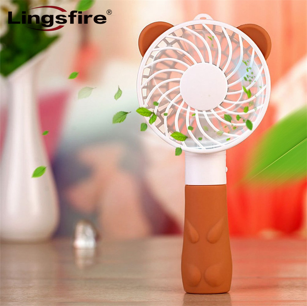 Cartoon Creative Handheld Fan Personal Electric Cooling Portable Fan USB Battery Powered Mini Fan Strong Airflow for Home&Travel personal computer graphics cards fan cooler replacements fit for pc graphics cards cooling fan 12v 0 1a graphic fan