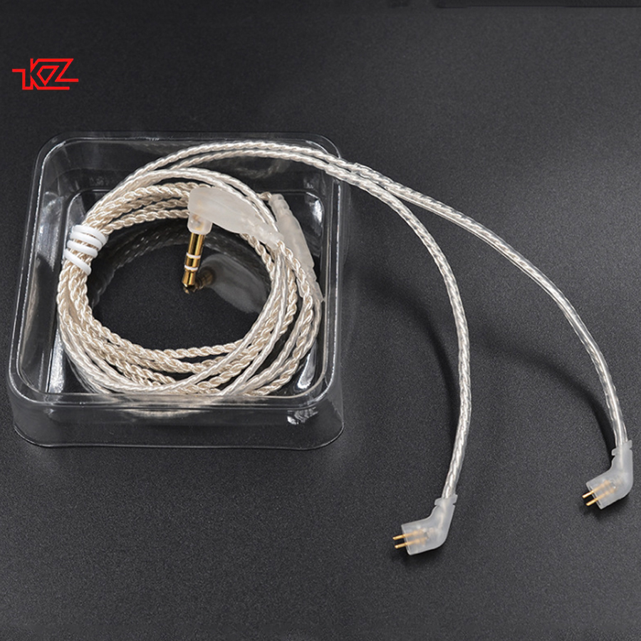 KZ 2.5mm 3.5mm ZST ED12 ES3 ZSR ZS10 ES4 Silver Plating Cable Earphone Headset Replaceable Audio Wire for Android IOS