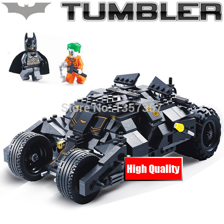 Batman The Tumbler Set 325pcs Building Blocks Sets Model Bricks Toys For Children DC Super Hero The Dark Night Joker
