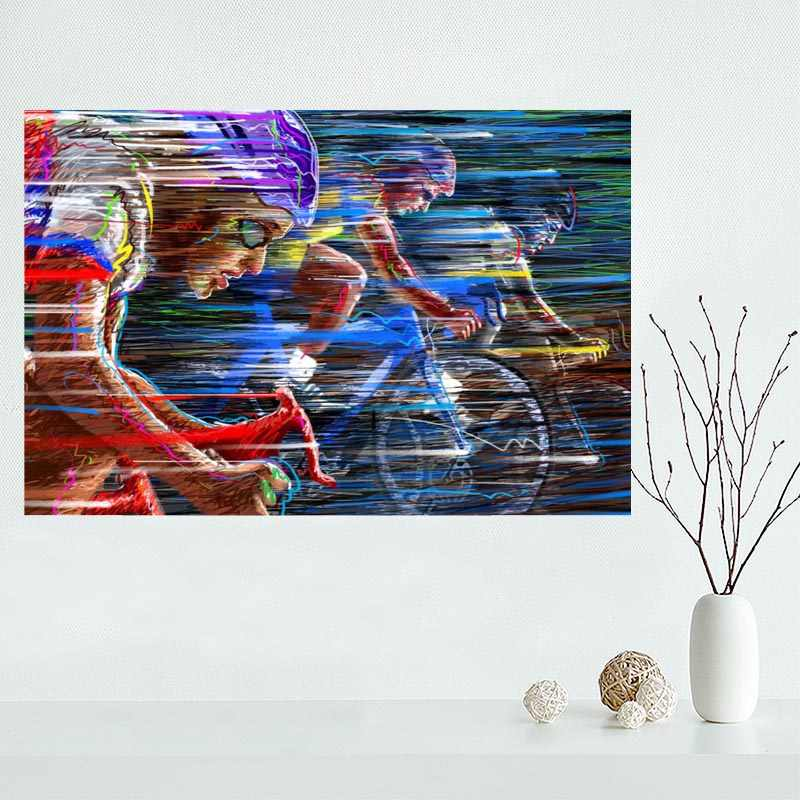 New arrival Custom bike,race,speed,color,cycling canvas poster Home Decoration Wall Art cloth Silk Fabric wall poster print