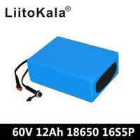 LiitoKala 60 В аккумуляторная батарея 60 в 12AH электрическая велосипедная батарея 60 в 12ah литиевая батарея с 67,2 в 2A зарядное устройство для 1000 Вт 1500 В
