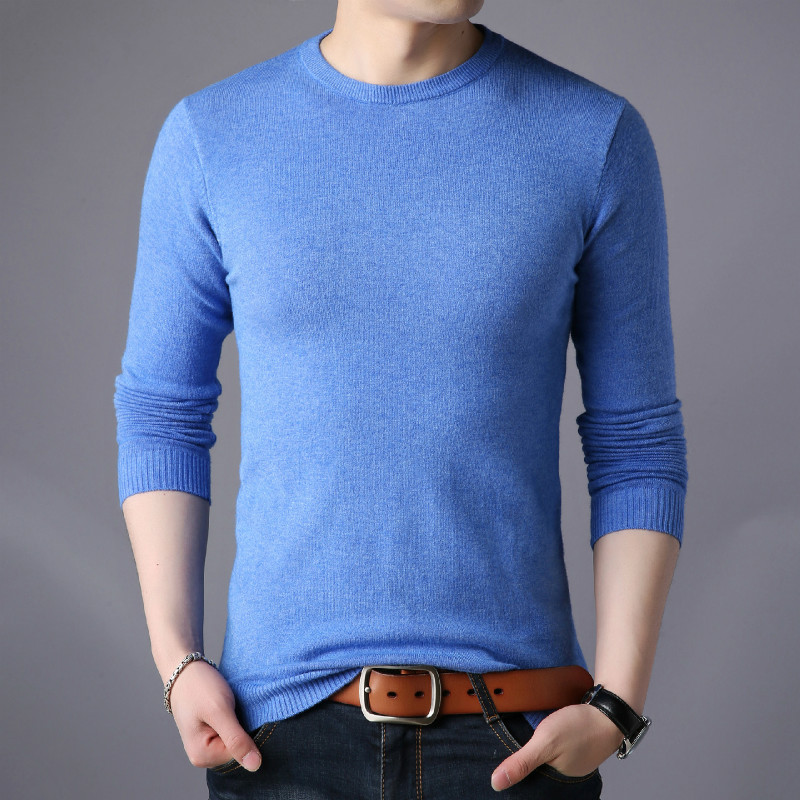 2019 Winter New Sweater Men Ribbed Crew Neck Fashion Letter Pullovers Warm Casual Knitwear Plus Size Clothes